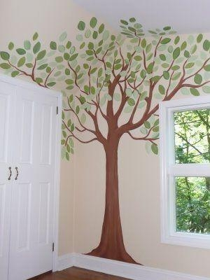 Best 25+ Nursery Tree Mural Ideas On Pinterest | Tree Wall For Painted Trees Wall Art (View 12 of 20)