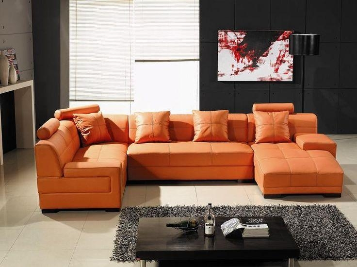 Best 25+ Orange Leather Sofas Ideas Only On Pinterest | Orange For Burnt Orange Leather Sofas (View 17 of 20)