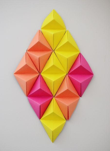 Best 25+ Origami Wall Art Ideas On Pinterest | Origami Decoration Regarding 3D Paper Wall Art (View 6 of 20)
