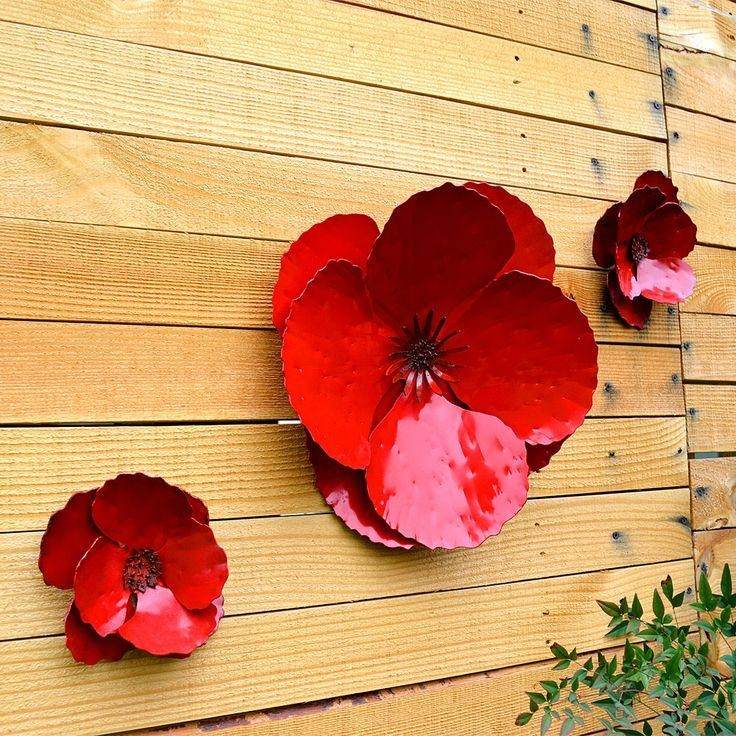 Best 25+ Outdoor Metal Wall Art Ideas Only On Pinterest | Metal For Metal Poppy Wall Art (View 15 of 20)