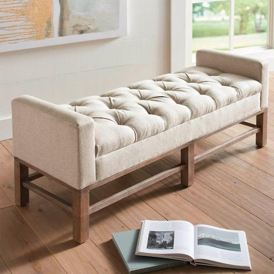 Best 25+ Padded Bench Ideas On Pinterest | Fabric Coffee Table With Bedroom Bench Sofas (Image 10 of 20)