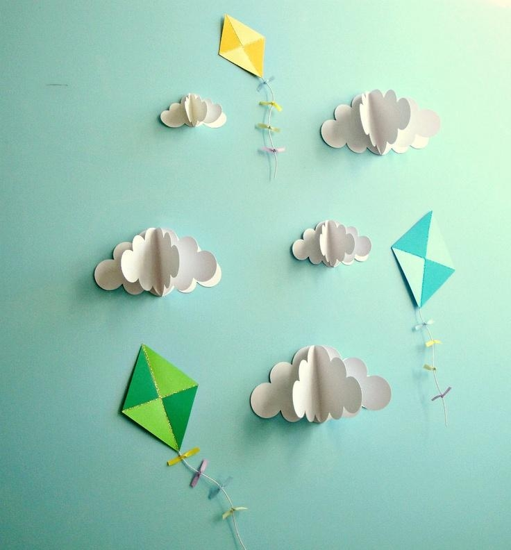 Best 25+ Paper Wall Decor Ideas On Pinterest | Diy Wall Flowers Intended For 3D Clouds Out Of Paper Wall Art (View 6 of 20)