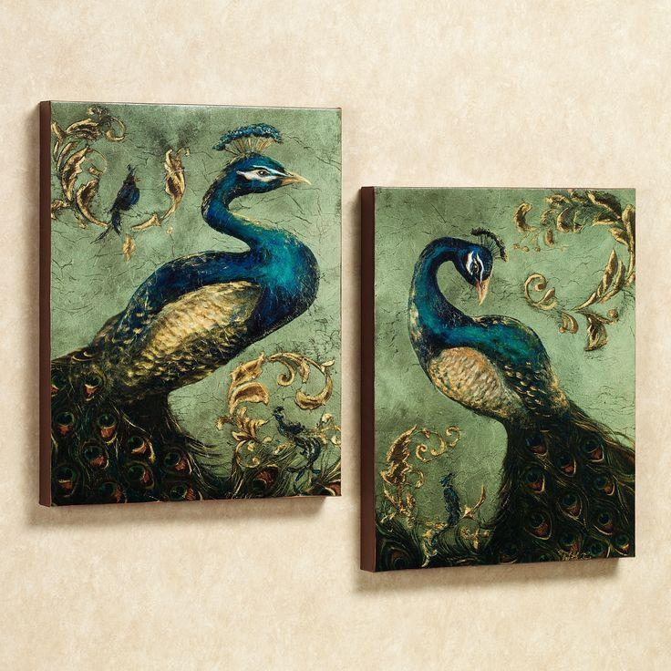 Best 25+ Peacock Canvas Ideas On Pinterest | Peacock Art, Peacock For Jeweled Peacock Wall Art (Image 5 of 20)