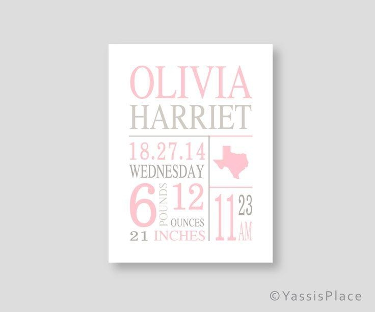Best 25+ Personalized Baby Gifts Ideas On Pinterest | Personalized Within Personalized Nursery Wall Art (Image 6 of 20)