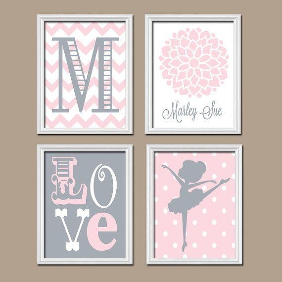 Best 25+ Pink Gray Nurseries Ideas Only On Pinterest | Gray With Regard To Pink And Grey Wall Art (View 13 of 20)
