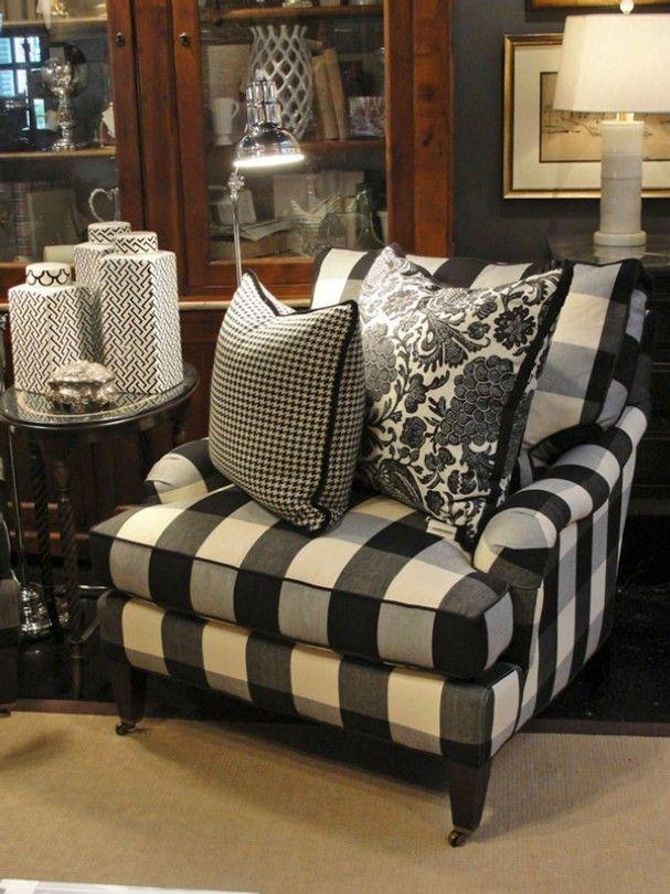 Best 25+ Plaid Couch Ideas On Pinterest | Painting Fabric With Regard To Black And White Sofas And Loveseats (Image 8 of 20)