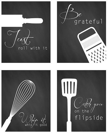 Best 25+ Printable Kitchen Prints Ideas On Pinterest | Kitchen Throughout Large Utensil Wall Art (Image 5 of 20)