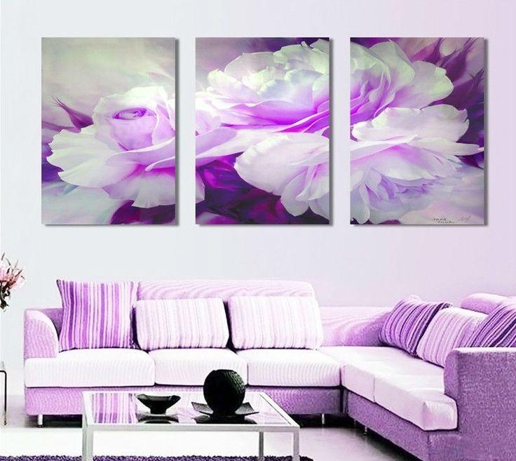 Featured Image of Purple Wall Art Canvas