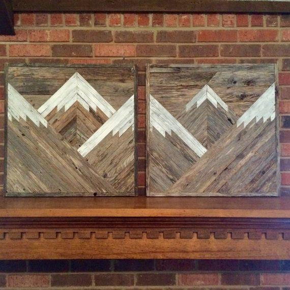 Best 25+ Reclaimed Wood Wall Art Ideas On Pinterest | Farmhouse Intended For Natural Wood Wall Art (Image 8 of 20)