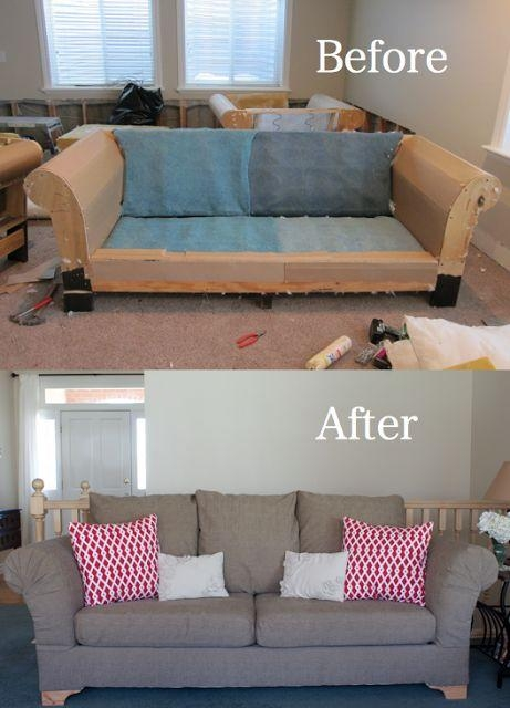 Best 25+ Recover Couch Ideas Only On Pinterest | Couch Redo With Regard To Reupholster Sofas Cushions (Image 9 of 20)
