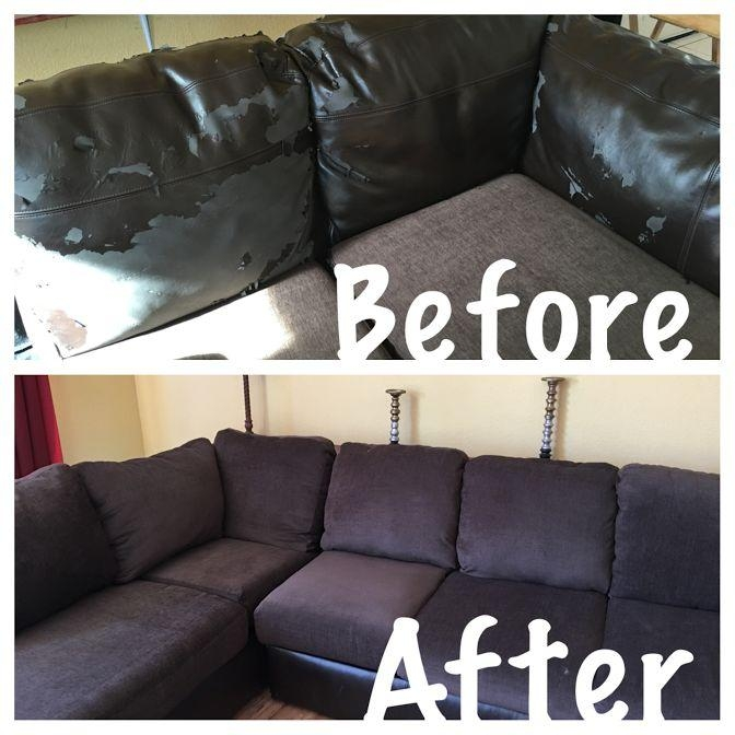 Best 25+ Recover Couch Ideas Only On Pinterest | Couch Redo With Regard To Reupholster Sofas Cushions (Image 8 of 20)