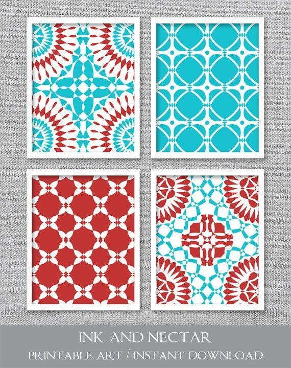 Best 25+ Red Turquoise Decor Ideas On Pinterest | Kitchen Pantry Throughout Red And Turquoise Wall Art (Image 8 of 20)