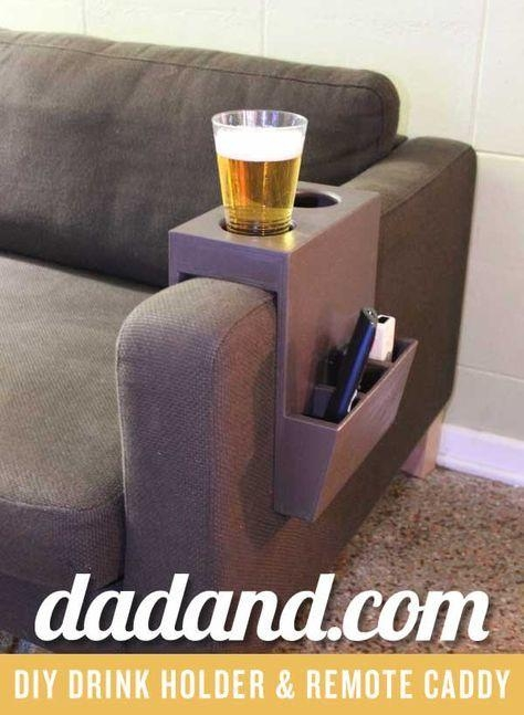 Best 25+ Remote Caddy Ideas On Pinterest | Remote Control Holder Regarding Sofas With Drink Holder (Image 4 of 20)