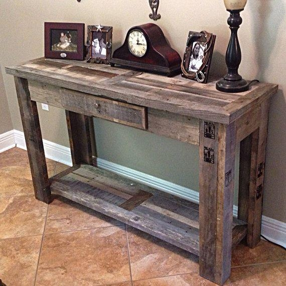 Best 25+ Rustic Sofa Tables Ideas On Pinterest | Natural Inside Barnwood Sofa Tables (Image 11 of 20)