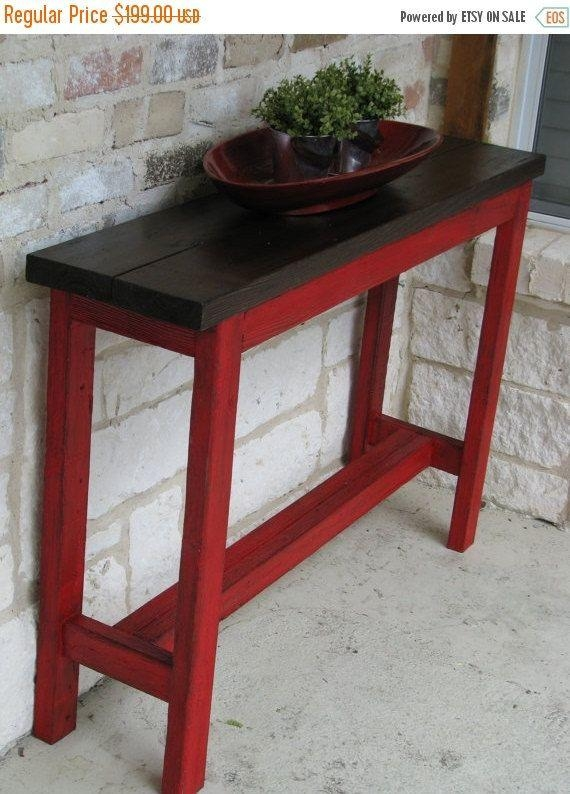 Best 25+ Rustic Sofa Tables Ideas On Pinterest | Natural Inside Red Sofa Tables (View 2 of 20)