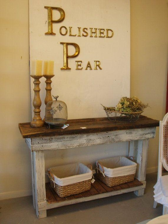 Best 25+ Shabby Chic Console Table Ideas On Pinterest | Pottery With Regard To Shabby Chic Sofa Tables (Image 6 of 20)