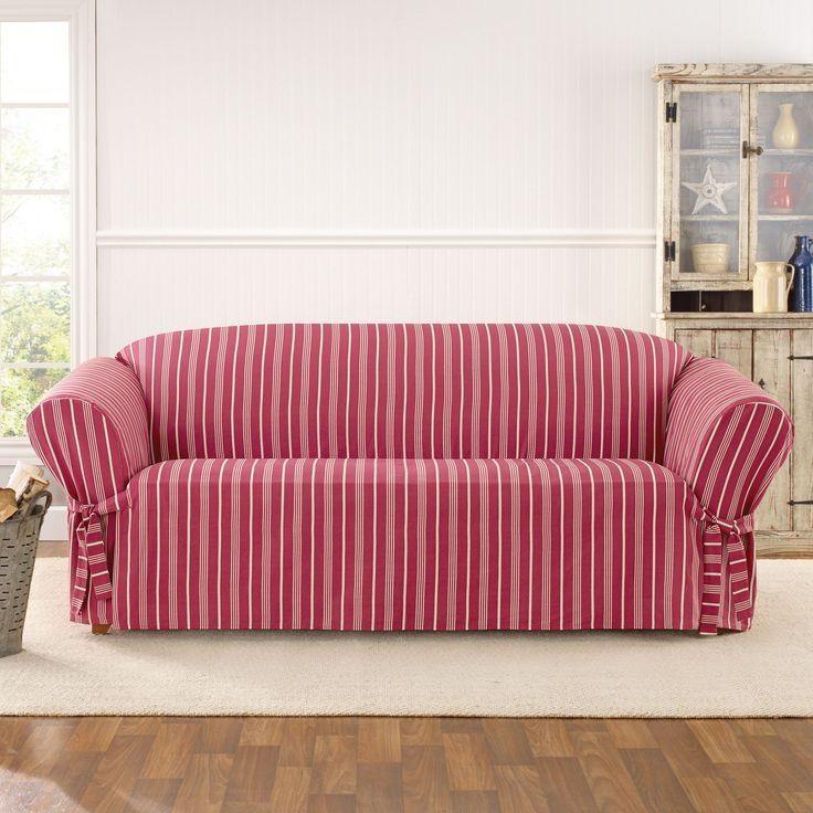 Best 25+ Slipcovers For Sofas Ideas On Pinterest | Slipcovers For Regarding Striped Sofa Slipcovers (Image 1 of 20)