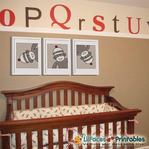 Best 25+ Sock Monkey Nursery Ideas Only On Pinterest | Monkey Room Throughout Sock Monkey Wall Art (Image 10 of 20)