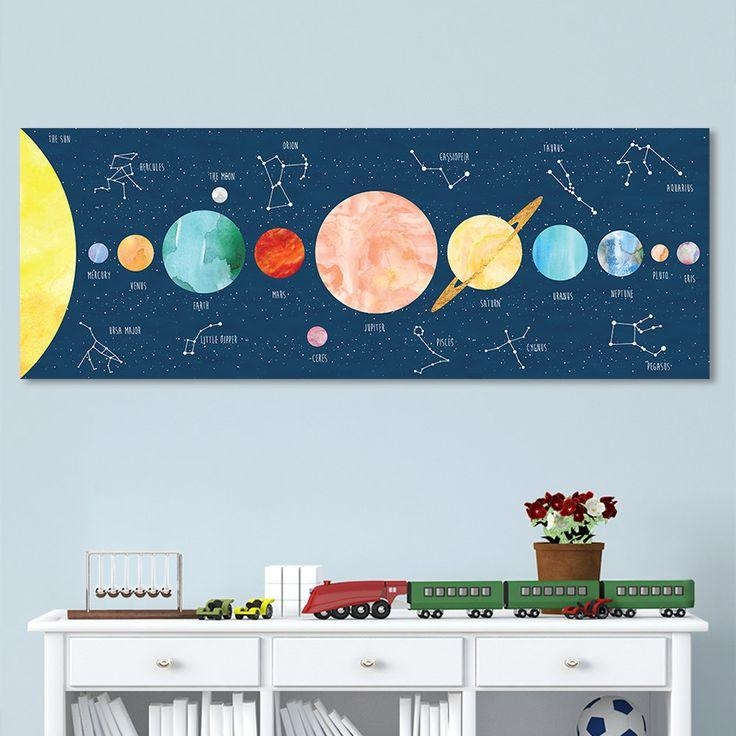 Best 25+ Solar System Art Ideas On Pinterest | Picture Of Solar For Solar System Wall Art (Image 9 of 20)