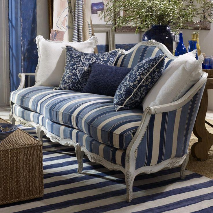 Best 25+ Striped Sofa Ideas On Pinterest | Striped Couch, Blue Inside Blue And White Sofas (View 6 of 20)