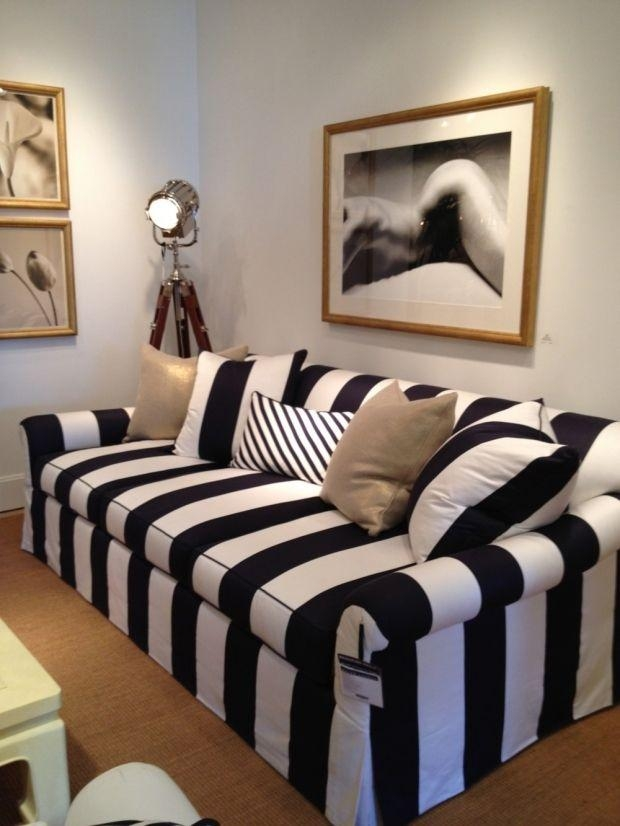 Best 25+ Striped Sofa Ideas On Pinterest | Striped Couch, Blue Pertaining To Black And White Sofas And Loveseats (Image 9 of 20)