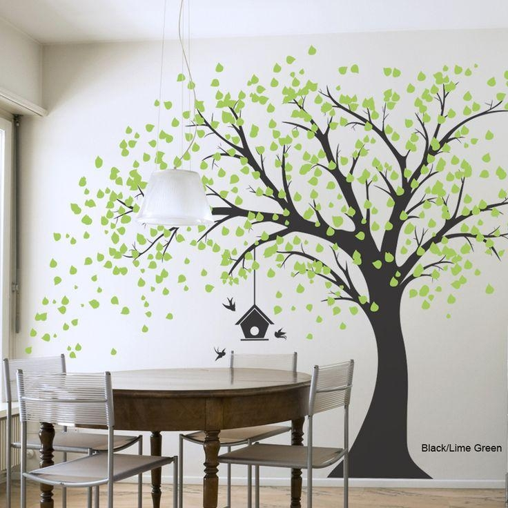 Best 25+ Tree Wall Decals Ideas On Pinterest | Tree Wall Painting Regarding Vinyl Wall Art Tree (View 12 of 20)