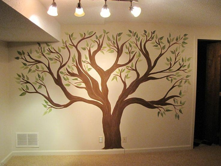 Best 25+ Tree Wall Murals Ideas On Pinterest | Wall Murals Bedroom For Painted Trees Wall Art (View 2 of 20)