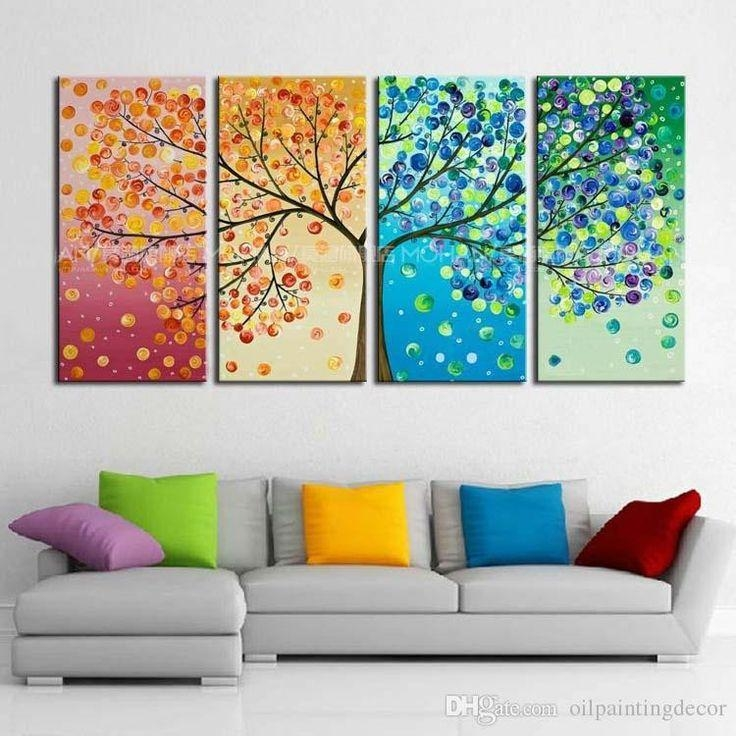 Best 25+ Tree Wall Painting Ideas On Pinterest | Family Tree Mural Inside Painted Trees Wall Art (View 16 of 20)
