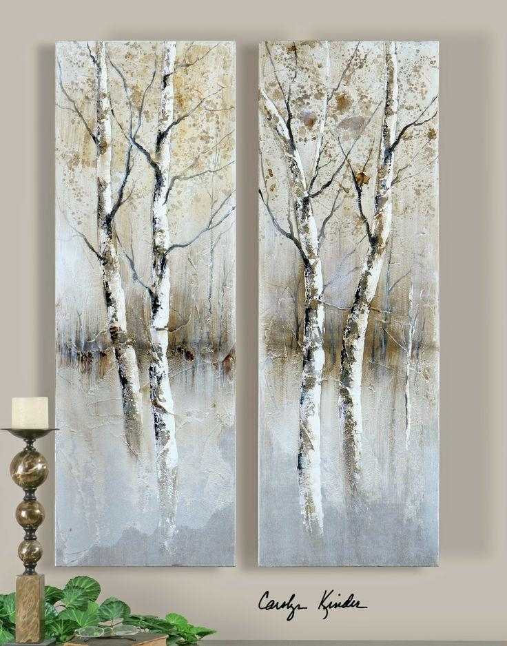 Best 25+ Tree Wall Painting Ideas On Pinterest | Family Tree Mural Throughout Painted Trees Wall Art (View 18 of 20)