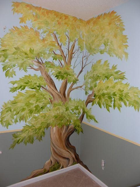 Best 25+ Tree Wall Painting Ideas On Pinterest | Family Tree Mural Throughout Painted Trees Wall Art (View 14 of 20)