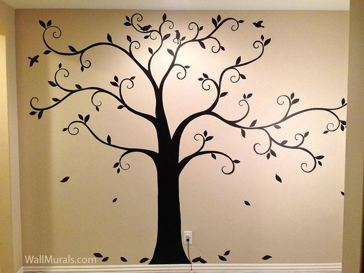 Best 25+ Tree Wall Painting Ideas On Pinterest | Family Tree Mural With Painted Trees Wall Art (View 4 of 20)