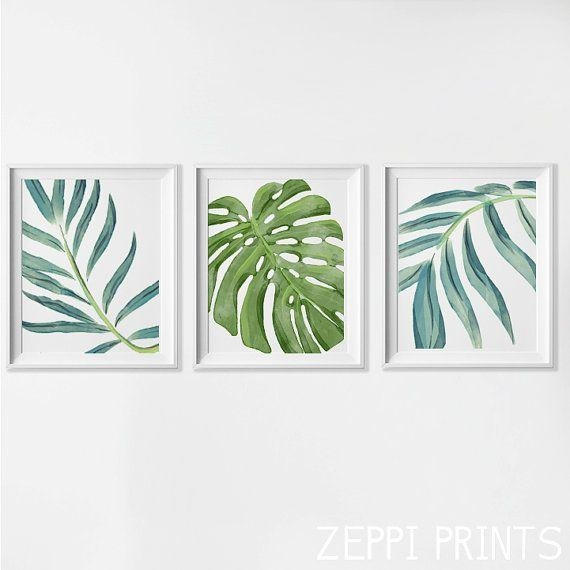 Framed wall pictures of leaves