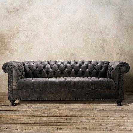 Best 25+ Tufted Leather Sofa Ideas On Pinterest | Restoration Pertaining To Brown Leather Tufted Sofas (Image 3 of 20)