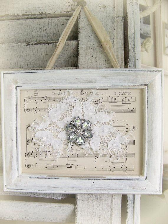 Best 25+ Vintage Wall Art Ideas On Pinterest | Eclectic Gallery Throughout Shabby Chic Canvas Wall Art (Image 8 of 20)