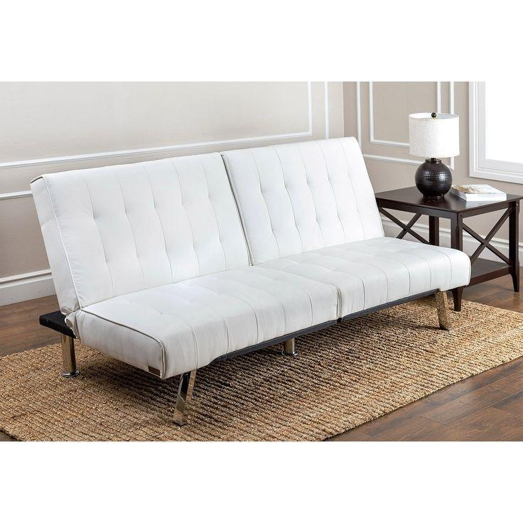 Best 25+ White Futon Ideas On Pinterest | Small Futon, Futon Sets With Regard To Faux Leather Futon Sofas (Image 10 of 20)