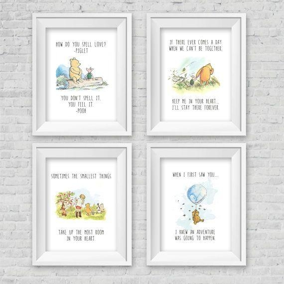 Best 25+ Winnie The Pooh Nursery Ideas On Pinterest | Winnie The Pertaining To Winnie The Pooh Wall Art For Nursery (Image 7 of 20)