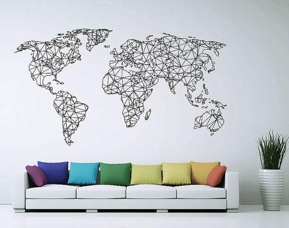Best 25+ World Map Wall Decal Ideas On Pinterest | Vinyl Wall With Regard To World Wall Art (Image 12 of 20)