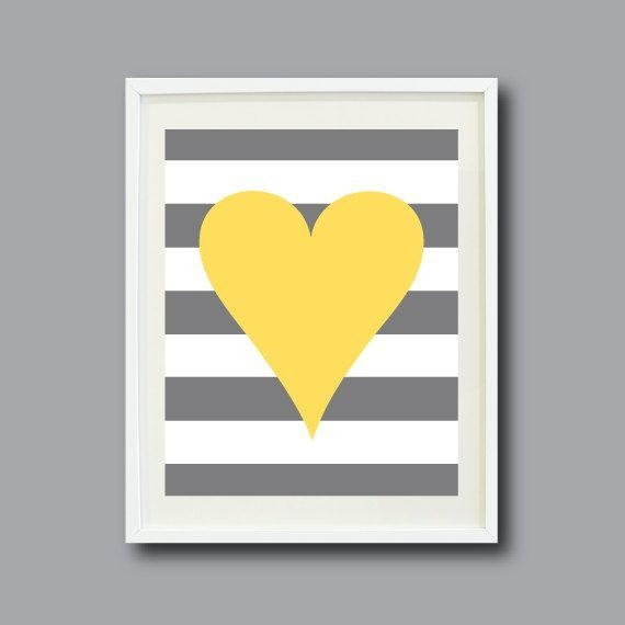 Best 25+ Yellow Wall Art Ideas On Pinterest | Yellow Room Decor Pertaining To Gray And Yellow Wall Art (Image 5 of 20)