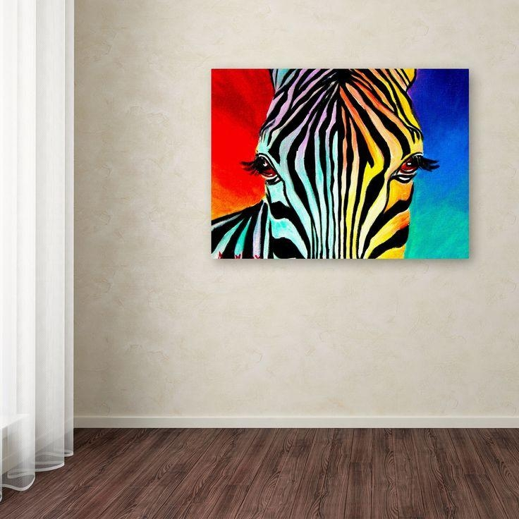 Best 25+ Zebra Painting Ideas On Pinterest | Zebra Drawing, Zebra Regarding Zebra Wall Art Canvas (View 4 of 20)