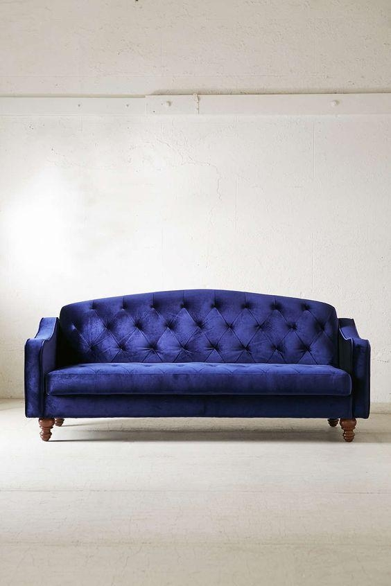 Best Ava Velvet Tufted Sleeper Sofa Ava Velvet Sleeper Sofa Home Intended For Ava Velvet Tufted Sleeper Sofas (View 4 of 20)