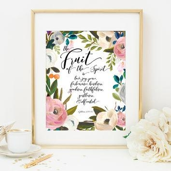 Best Bible Verse Prints In Pink Products On Wanelo Regarding Bible Verses Framed Art (View 15 of 20)