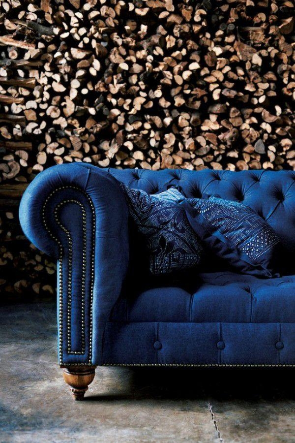 Best Blue Velvet Sofas | Blog | Roger + Chris Intended For Blue Velvet Tufted Sofas (Image 8 of 20)