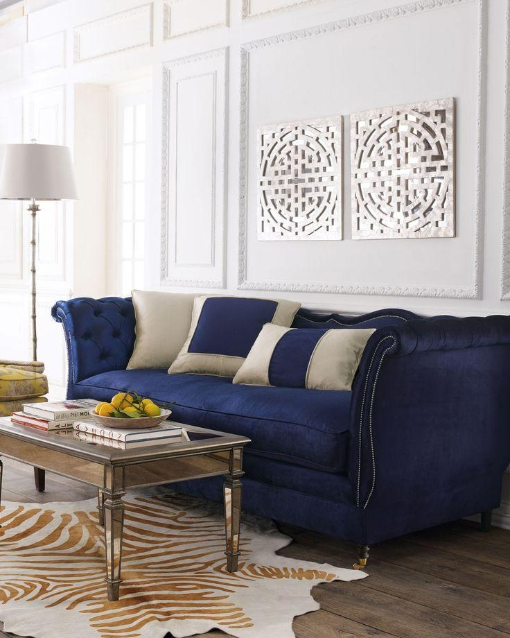 Best Blue Velvet Sofas | Blog | Roger + Chris With Regard To Blue Velvet Tufted Sofas (Image 9 of 20)