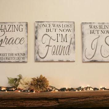 Best Christian Wood Wall Art Products On Wanelo Regarding Grace Wall Art (View 16 of 20)