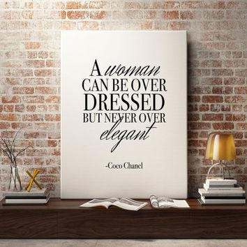 Best Coco Chanel Posters/prints Products On Wanelo Throughout Coco Chanel Quotes Framed Wall Art (View 10 of 20)