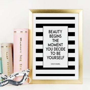 Best Coco Chanel Wall Quotes Products On Wanelo With Regard To Coco Chanel Quotes Framed Wall Art (View 11 of 20)