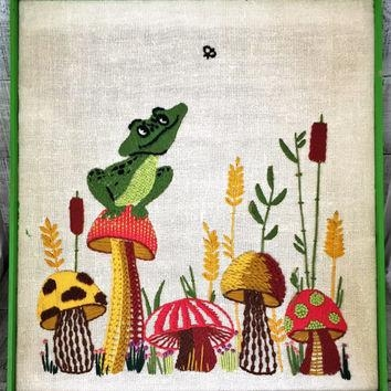 Best Crewel Embroidery Wall Hangings Products On Wanelo Throughout Mushroom Wall Art (Image 8 of 20)