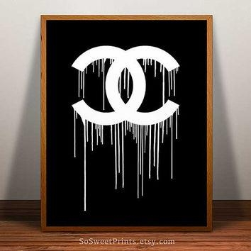 Best Dripping Chanel Print Products On Wanelo With Chanel Wall Decor (View 6 of 20)