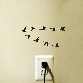 Best Flock Of Birds Wall Decor Products On Wanelo Throughout Flock Of Birds Wall Art (Image 4 of 20)