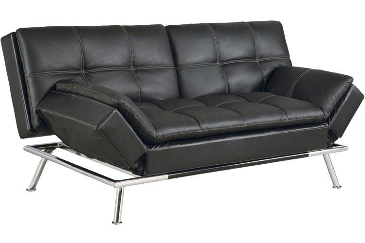 Best Futon Couch | Matrix Convertible Futon Sofa Bed Sleeper Black Inside Leather Fouton Sofas (Image 8 of 20)